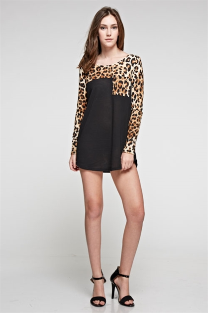 ANIMAL PRINT TUNIC - orangeshine.com