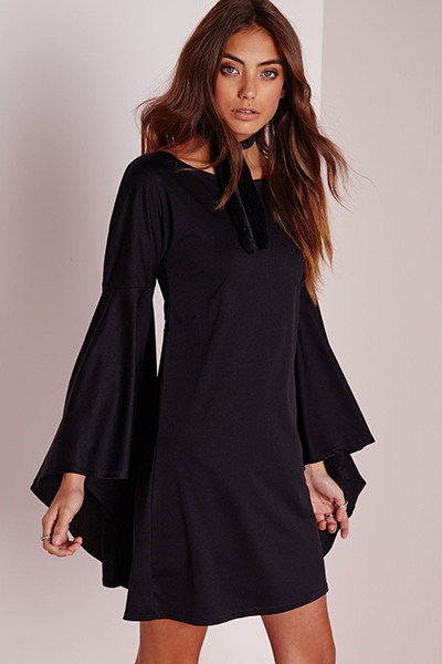 SEXY FLARE SLEEVE DRESS - orangeshine.com