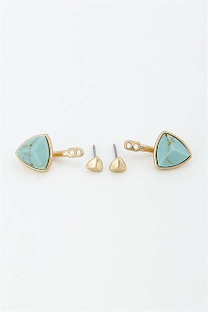 Trendy Triangle Earrings - orangeshine.com