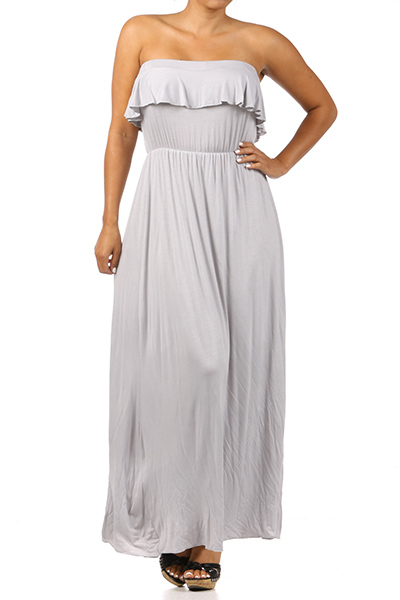 Strapless maxi dress - orangeshine.com
