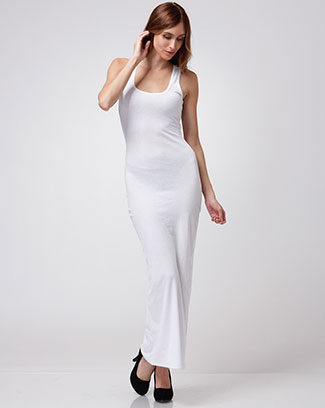 SLEEVLESS RIB MAXI DRESS