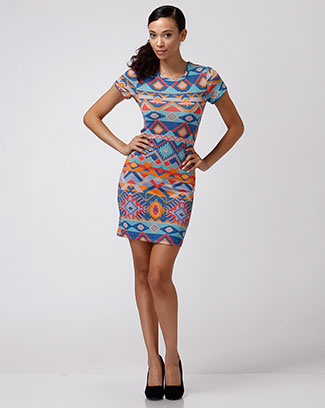 MUTLI COLOR DRESS W/ OPEN BACK - orangeshine.com