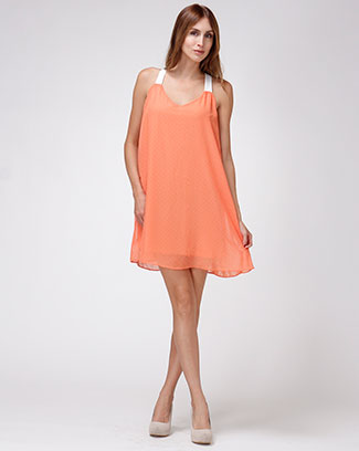 SOLID SHORT DRESS - orangeshine.com