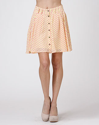 POLKA DOT SKATER SKIRT - orangeshine.com