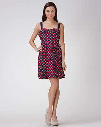 APPLE PRINT DRESS - orangeshine.com