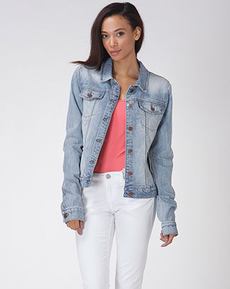 DENIM BUTTON UP JACKET - orangeshine.com
