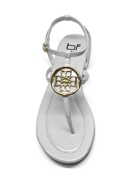GOLDEN B EMBLEM TOE THONG SANDAL - orangeshine.com