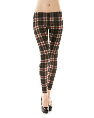 PLAID LEGGINGS - orangeshine.com