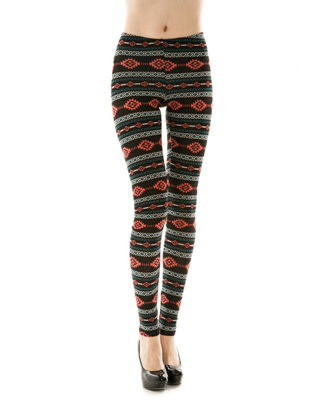 AZTEC PRINT LEGGINGS - orangeshine.com