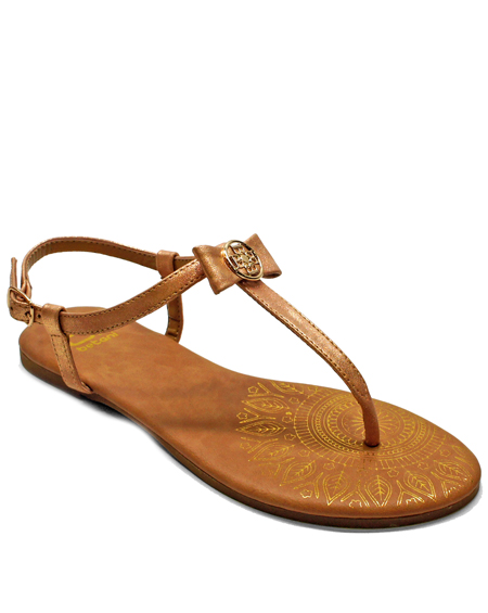 TOE THONG SANDAL WITH SMALL BOW - orangeshine.com