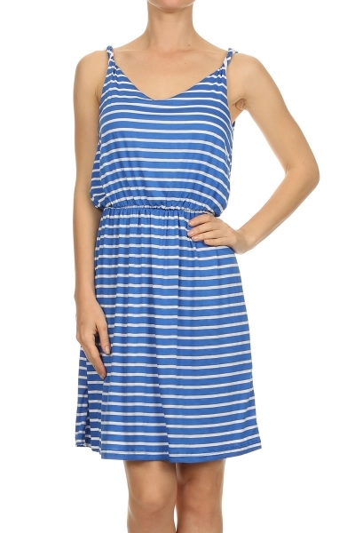Striped dress - orangeshine.com