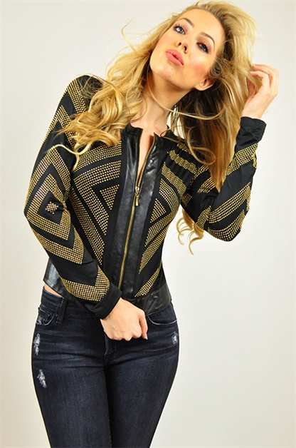 Blazer with embellished design - orangeshine.com