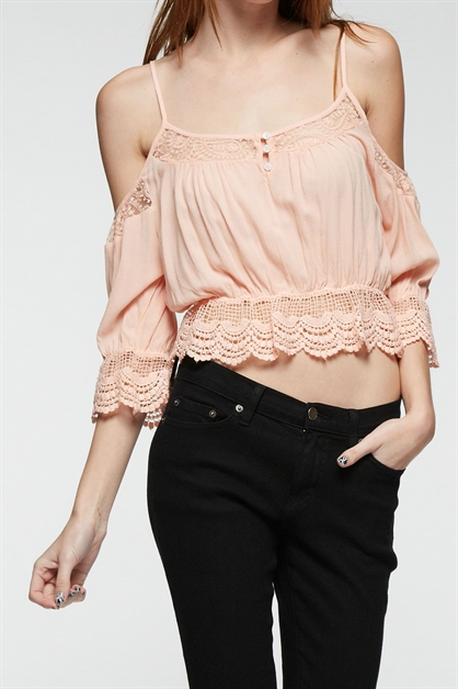 LACE CROP TOP - orangeshine.com