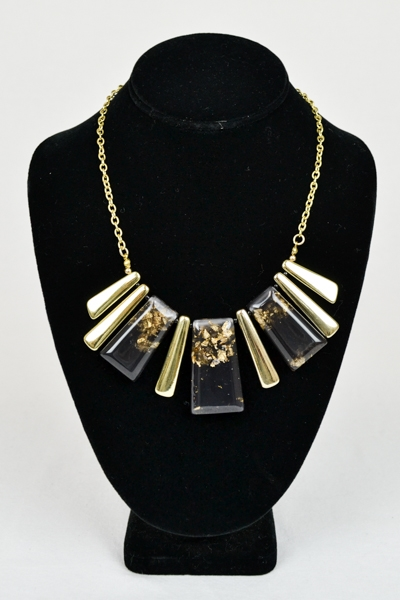 BLACK DIAMOND NECKLACE SET - orangeshine.com