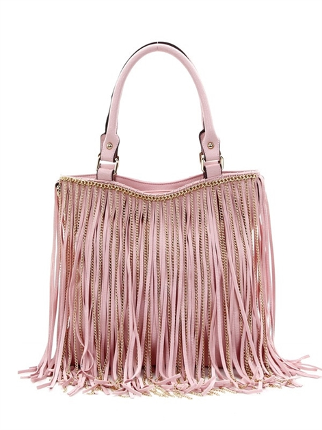 chain fringed tote - orangeshine.com