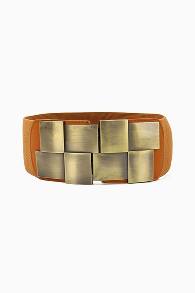 WIDE BELT WITH BRONZE PIECES - orangeshine.com