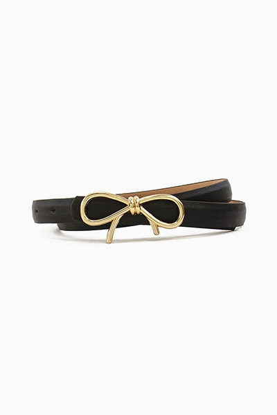 GOLD RIBBON BOW BELT - orangeshine.com