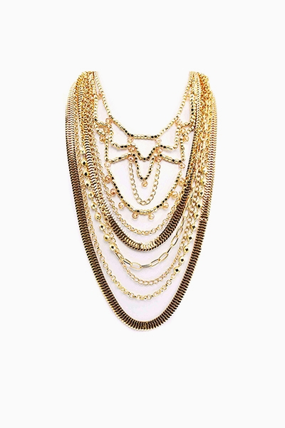 MULTI-LAYERED CHAIN AND JEWEL  - orangeshine.com