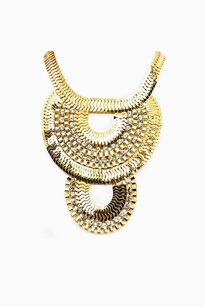 FISH SCALE STATEMENT NECKLACE - orangeshine.com