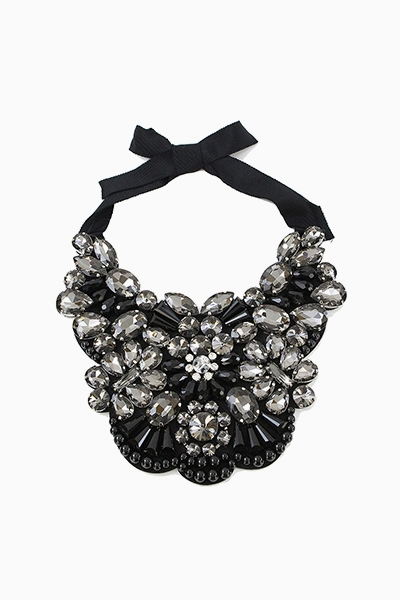 ORNATE JEWEL BIB RIBBON TIE - orangeshine.com