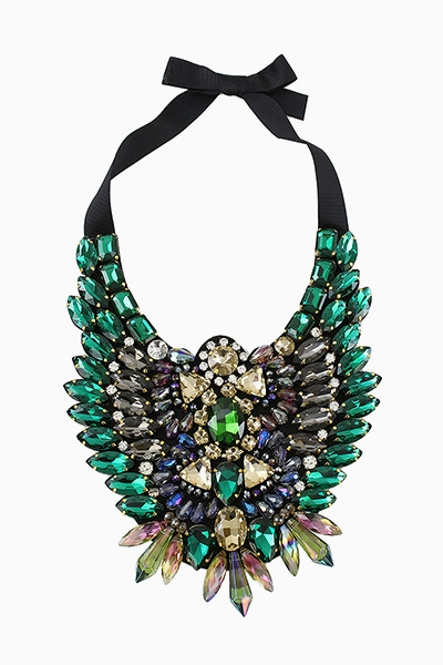 PEACOCK STATEMENT NECKLACE - orangeshine.com