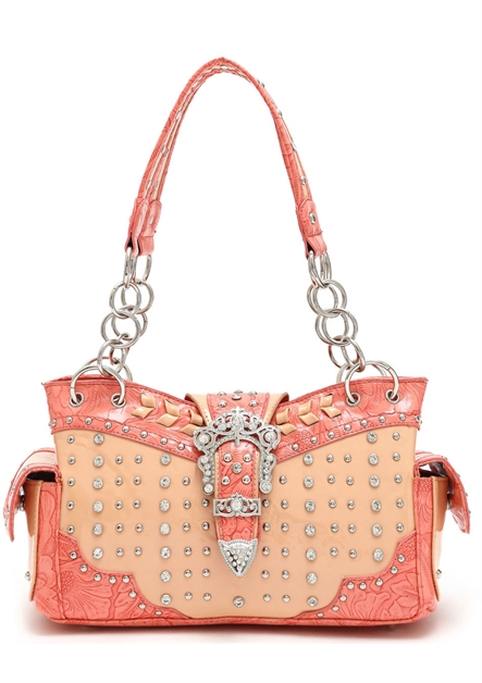 Western Shoulder BagGlossy Bag - orangeshine.com