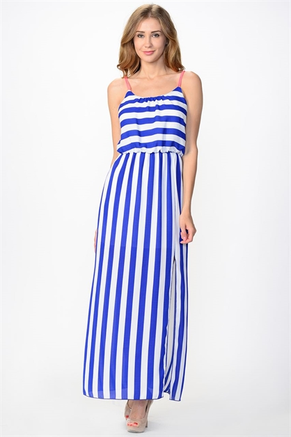 Maxi Dress Stripe - orangeshine.com