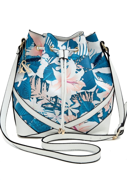 Flower print Bucket Bag - orangeshine.com