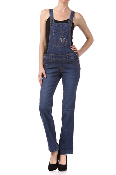 Women DENIM OVERALLS OP7510 - orangeshine.com