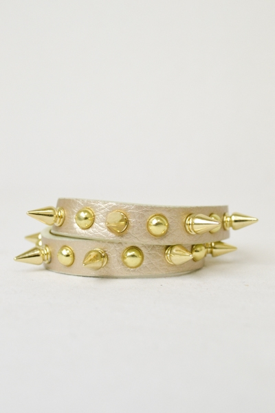 Studded Double Wrap Bracelet - orangeshine.com