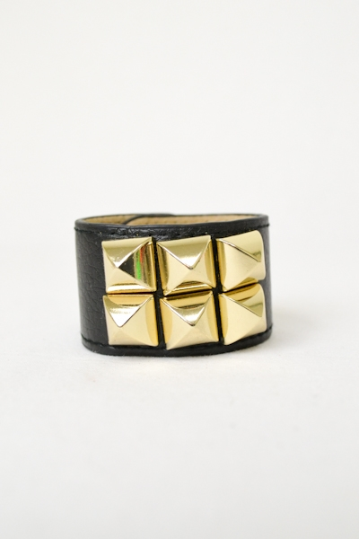 6 Stud Leather Bracelet - orangeshine.com