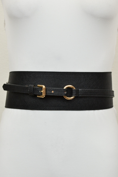 SAFFIANO LEATHER WAIST BELT - orangeshine.com