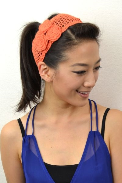 MINI FLOWER CROCHET HEADBAND - orangeshine.com