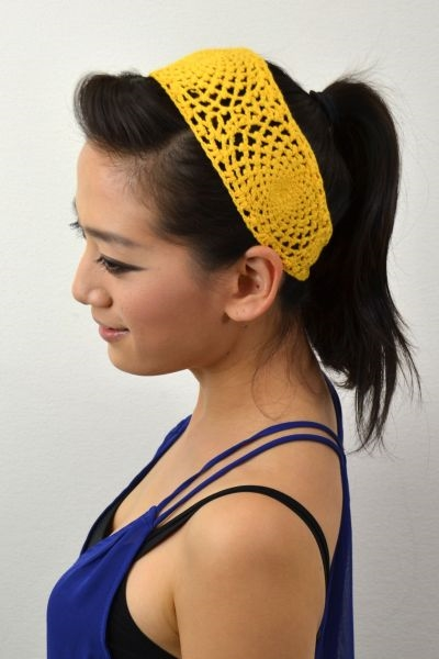 SWIRL PATTERN CROCHET HEADBAND - orangeshine.com