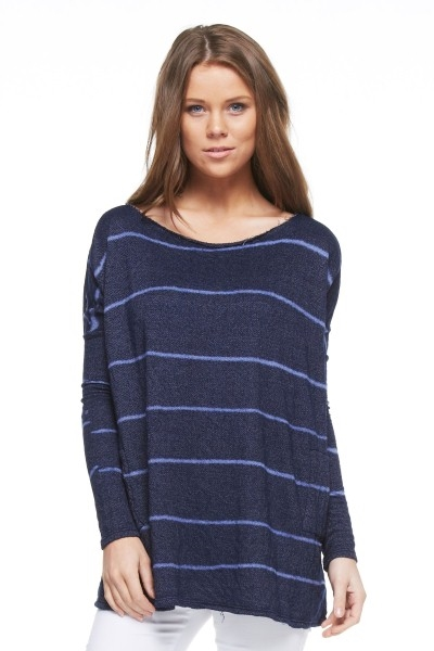 LONG SLEEVE STRIPED TOP - orangeshine.com