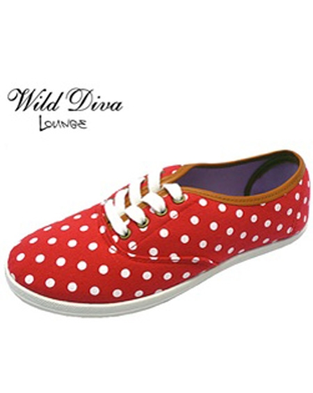 POLKA DOTTED SNEAKERS - orangeshine.com
