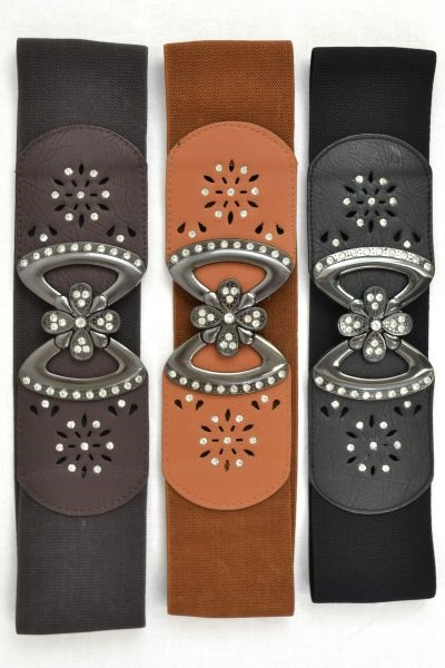 METALLIC RHINESTONE BELT - orangeshine.com