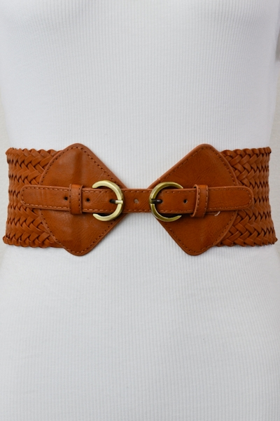 DUAL BUCKLE BRAIDED BELT - orangeshine.com