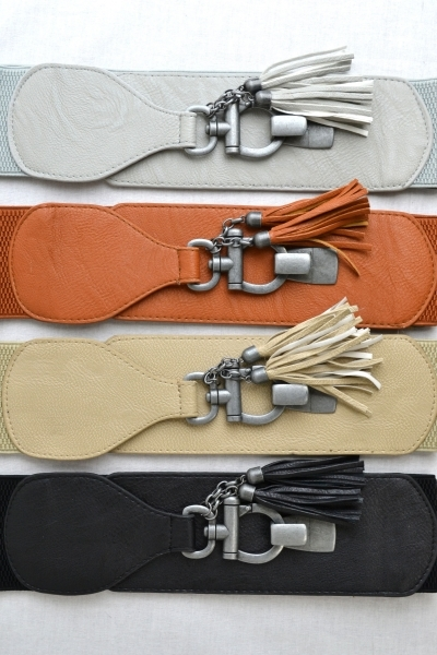 METAL RING ELASTIC BAND BELT - orangeshine.com