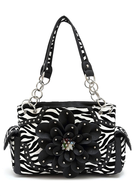 FLOWER N ZEBRA SHOULDER BAG - orangeshine.com