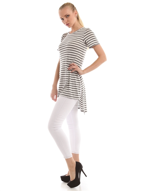 Striped Tunic Top T11625 - orangeshine.com