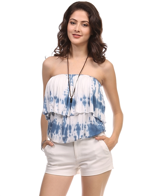 Bamboo Tie dye tube top - orangeshine.com