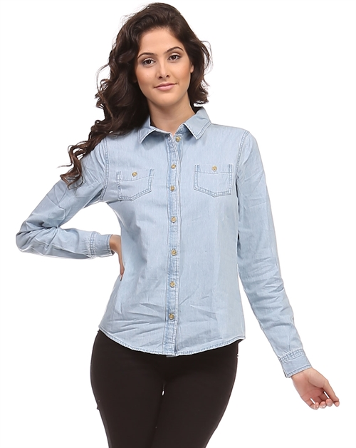 Long Sleeve Chambray - orangeshine.com