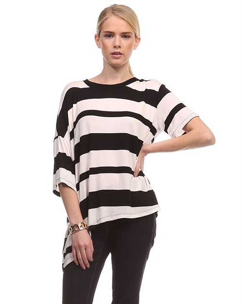 STRIPE UNBALANCE TOP - orangeshine.com