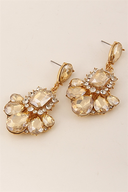 Elegant Tear Drop Earrings  - orangeshine.com