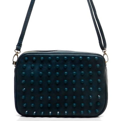 Color Studded Box Cross Body  - orangeshine.com