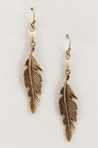 Leaf Inspired Hook Earring - orangeshine.com