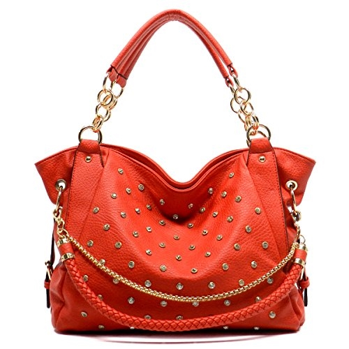 Rhinestone Chain  Shoulder Bag - orangeshine.com