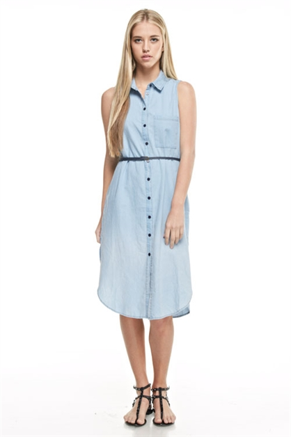 DENIM SHIRTS DRESS - orangeshine.com