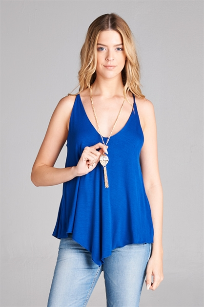 ASYMMETRIC TANK WITH NECKLACE - orangeshine.com